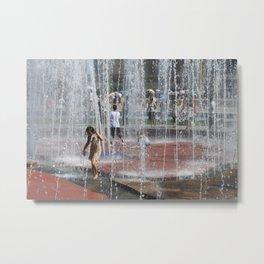 Water Play Metal Print