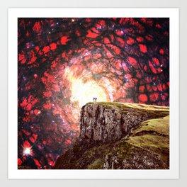 A Cliff In Dream Land Art Print