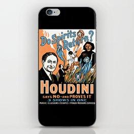 Harry Houdini, do spirits return? iPhone Skin