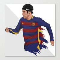 neymar Canvas Prints featuring Neymar  by siddick49