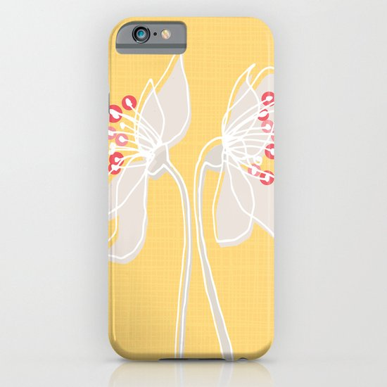 Cherry Blossom: Yellow iPhone & iPod Case