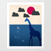 africa Art Prints featuring Africa by Mehdi Elkorchi