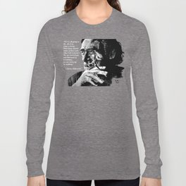 Charles Bukowski - black - quote Long Sleeve T-shirt