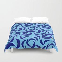Many Moons - Blue Duvet Cover