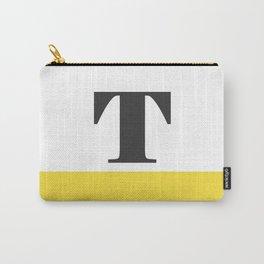 Monogram Letter T-Pantone-Buttercup Carry-All Pouch