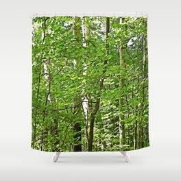 Birches Shower Curtain
