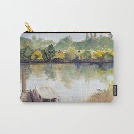 Autumn on the Delta: Houseboat on the Sacramento River, Walnut Creek, California Carry-All Pouch