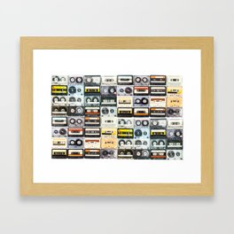 cassette nostalgy Framed Art Print
