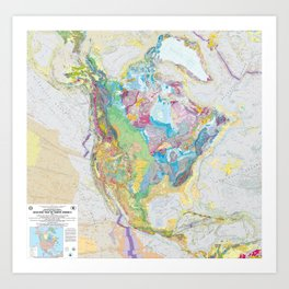 USGS Geological Map of North America Art Print
