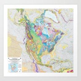 USGS Geological Map of North America Art Print