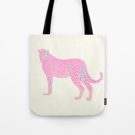 PINK STAR CHEETAH Tote Bag
