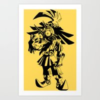 majoras mask Art Prints featuring Skullkid / zelda / majoras mask by tshirtsz