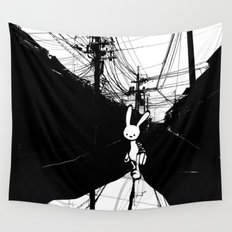 minima - beta bunny / noir Wall Tapestry