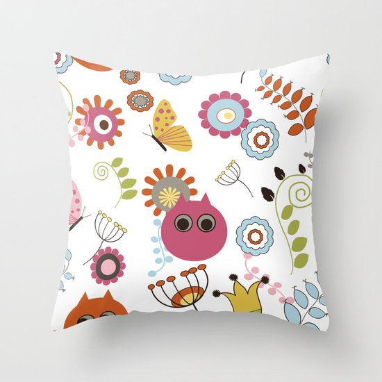 Owl in Pandora Throw Pillow