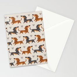 Dachshund Pups Stationery Cards