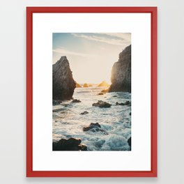 Sunset at El Matador Framed Art Print