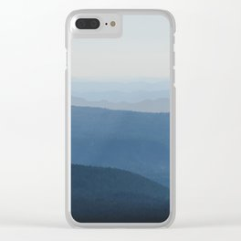 Smoky Blue Mountains Clear iPhone Case