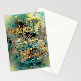 icream fucked'up truck  Stationery Cards