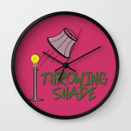 Throwing Shade Wall Clock