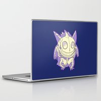 gengar Laptop & iPad Skins featuring Pocket Man Anatomy #94 Gengar by jazzmoth