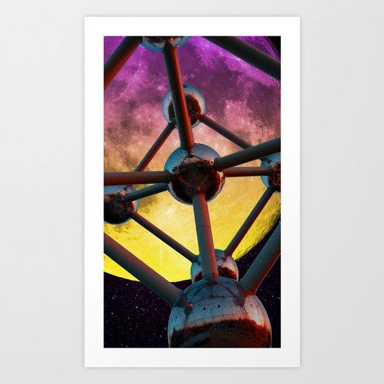 Atomium in space Art Print
