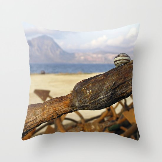 "Abandoned Maritime Zone - Trapani - Sicily ""Vacancy"" zine Throw Pillow"