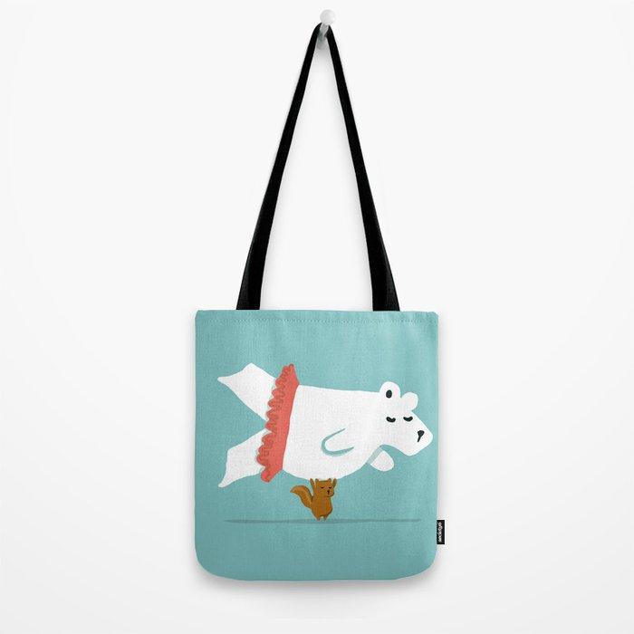 You Lift Me Up - Polar bear doing ballet Tote Bag