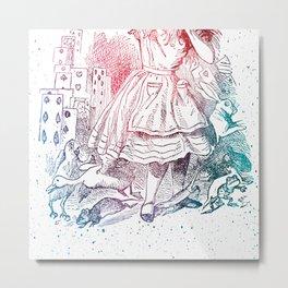 Alice Cards Metal Print