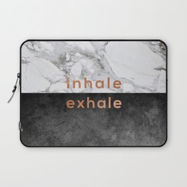 Inhale Exhale Copper Laptop Sleeve