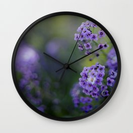 Rosmary Flower Wall Clock