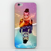 grimes iPhone & iPod Skins featuring GRIMES by OmaPRINTS