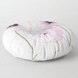 Delicate Poppies Floor Pillow