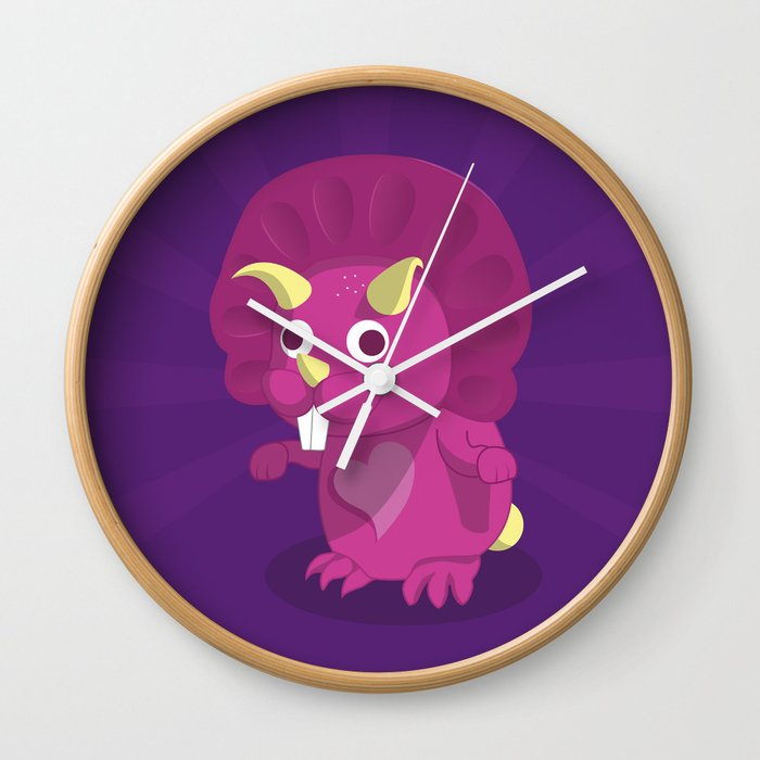 The Dino-zoo: Rabbit-saurus Wall Clock