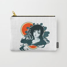 Polka Dot Flower Carry-All Pouch
