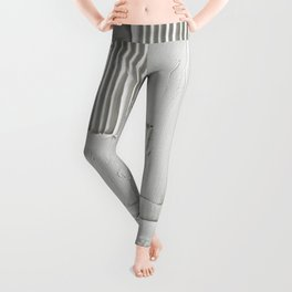 Relief [3]: an abstract, textured piece in white by Alyssa Hamilton Art  Leggings