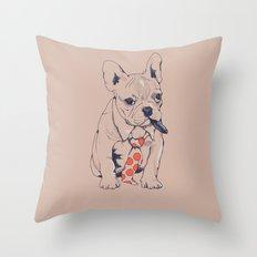 FRENCH BULLDOG BOSS Throw Pillow