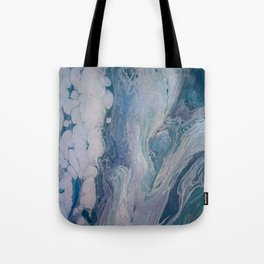 Purple, Blue, and White Abstract Fluid Acrylic Painting 2 Tote Bag