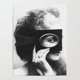 Vintage Fashion Portrait - Slander of Madness, 1860s Poster