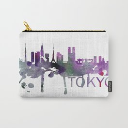 Tokyo Art, Tokyo Skyline, Tokyo map, Tokyo skyline, Tokyo map print Carry-All Pouch