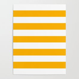UCLA gold - solid color - white stripes pattern Poster