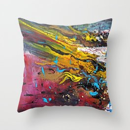 silent chaos Throw Pillow