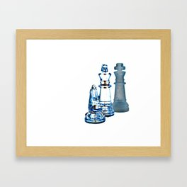 Chess Pieces Framed Art Print