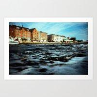 copenhagen Art Prints featuring Copenhagen by Marcin Kubiak