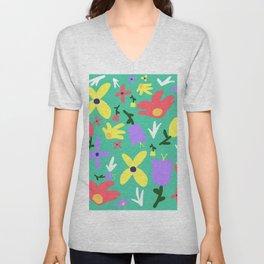 Handmade Bright Spring Pop Art Print Unisex V-Neck