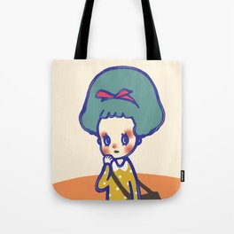 Thinking girl  Tote Bag