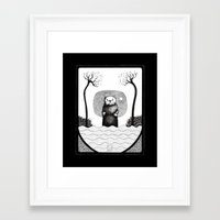 otter Framed Art Prints featuring Otter by loukoumotion