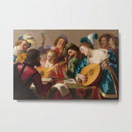 Gerard van Honthorst - The Concert Metal Print