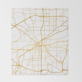 FORT WORTH CITY STREET MAP ART Throw Blanket