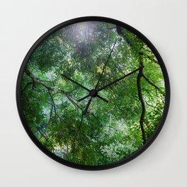 green light Wall Clock