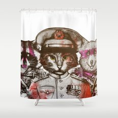 Badass Shower Curtains animals, graphic-design and humor shower curtains | society6
